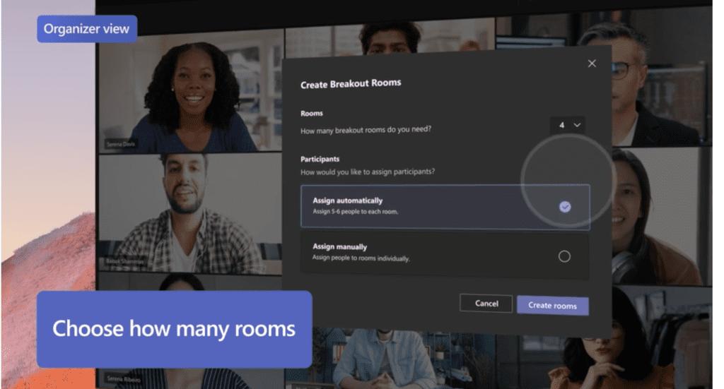 Microsoft Teams - How many rooms