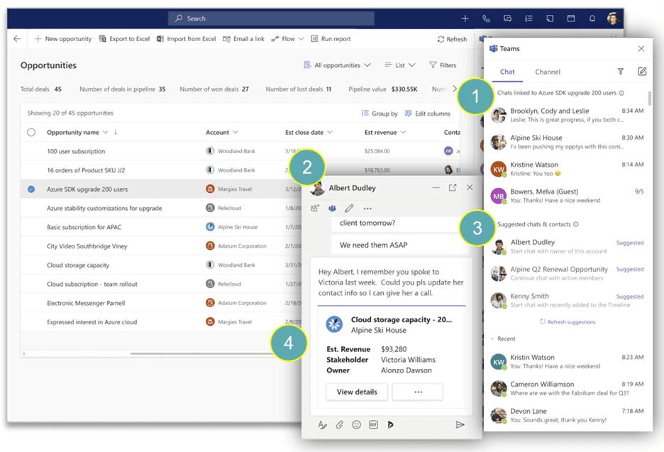 Microsoft Teams et Dynamincs 365